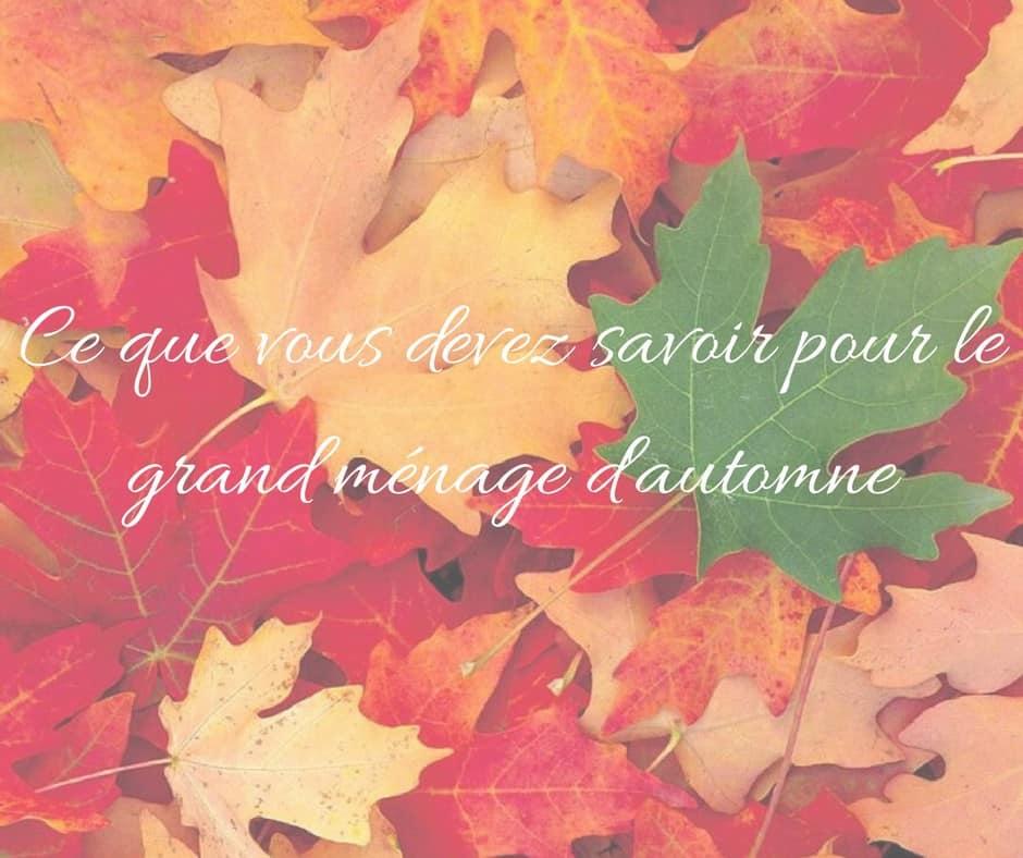Grand ménage d'automne