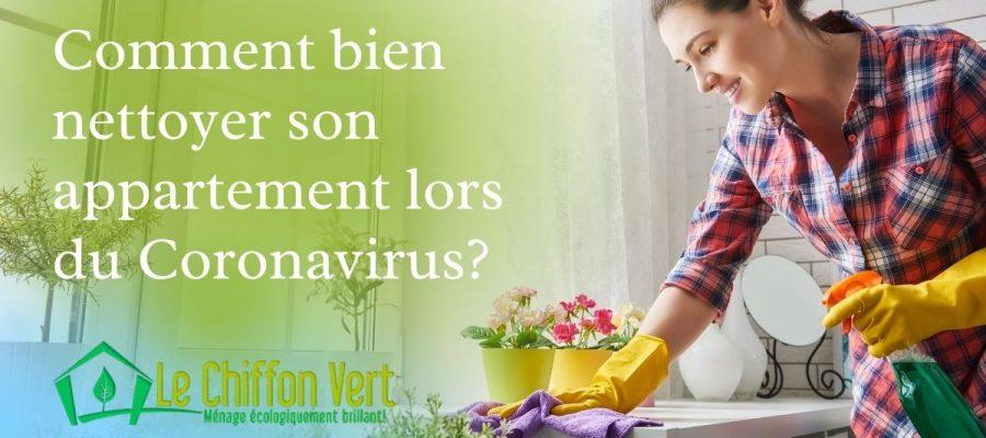 Comment bien nettoyer son appartement lors du coronavirus